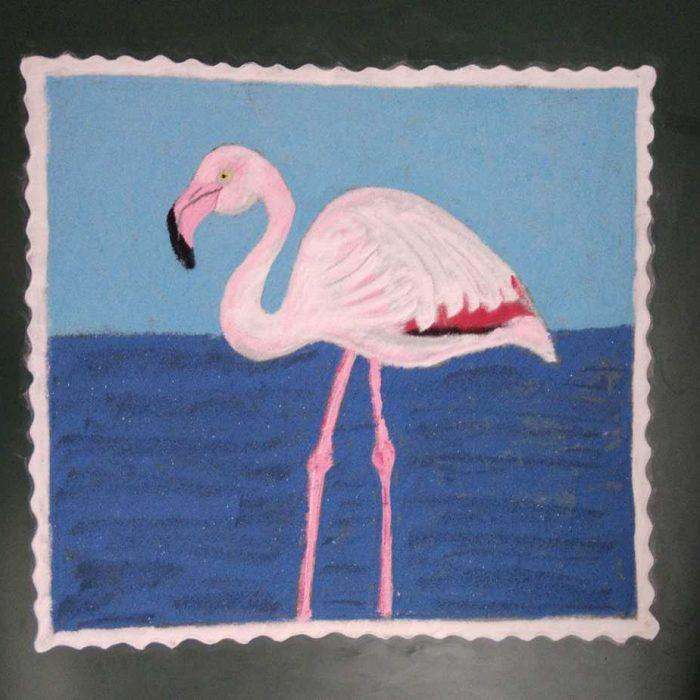 Navami: Pink: Greater Flamingo
