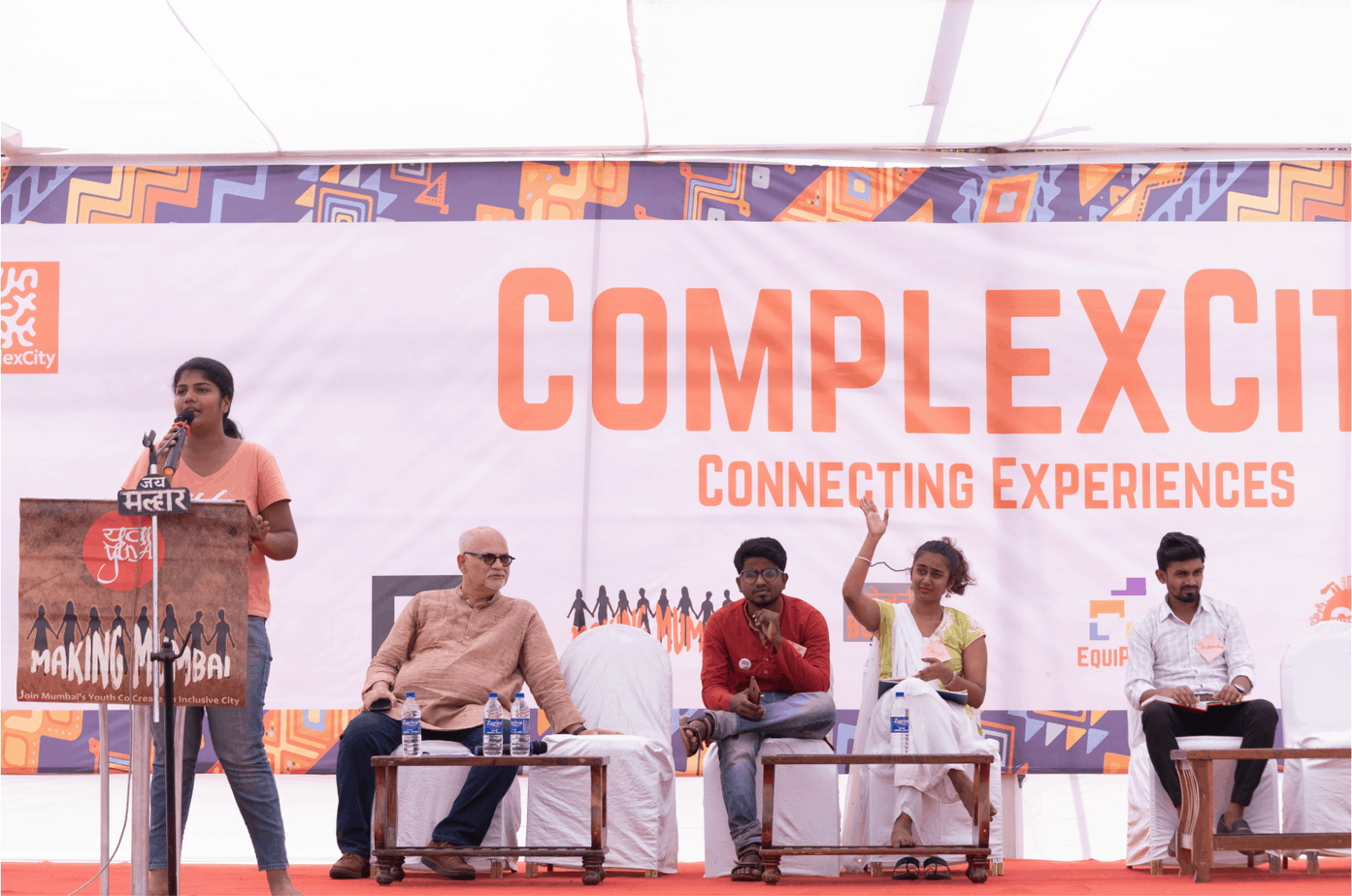 Youth lead discussions at ComplexCity's Making Mumbai youth event. Pic: Vivek Venkatraman